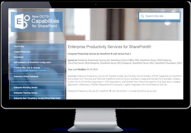 Enterprise Productivity Services for SharePoint
